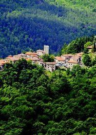 Veduta panoramica di Serravalle di Bibbiena