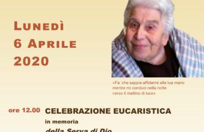 Celebrazione eucaristica in streaming nell'anniversario della morte il 6 aprile 2020