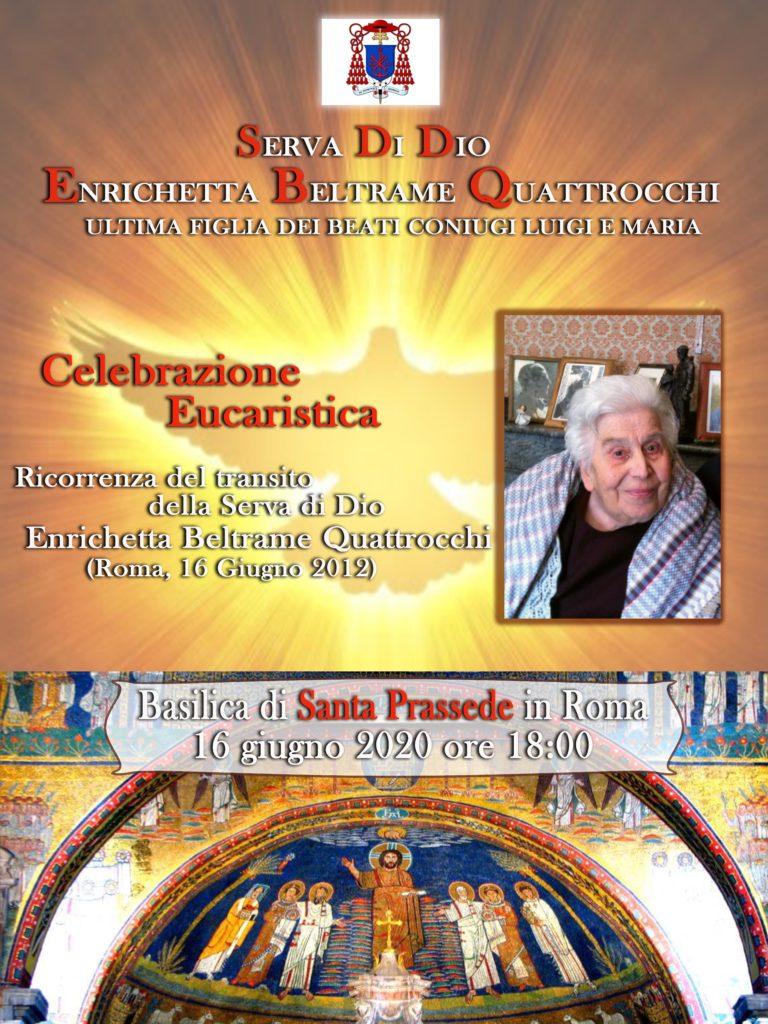 Celebrazione eucaristica ricorrenza della morte di Enrichetta Beltrame Quattrocchi