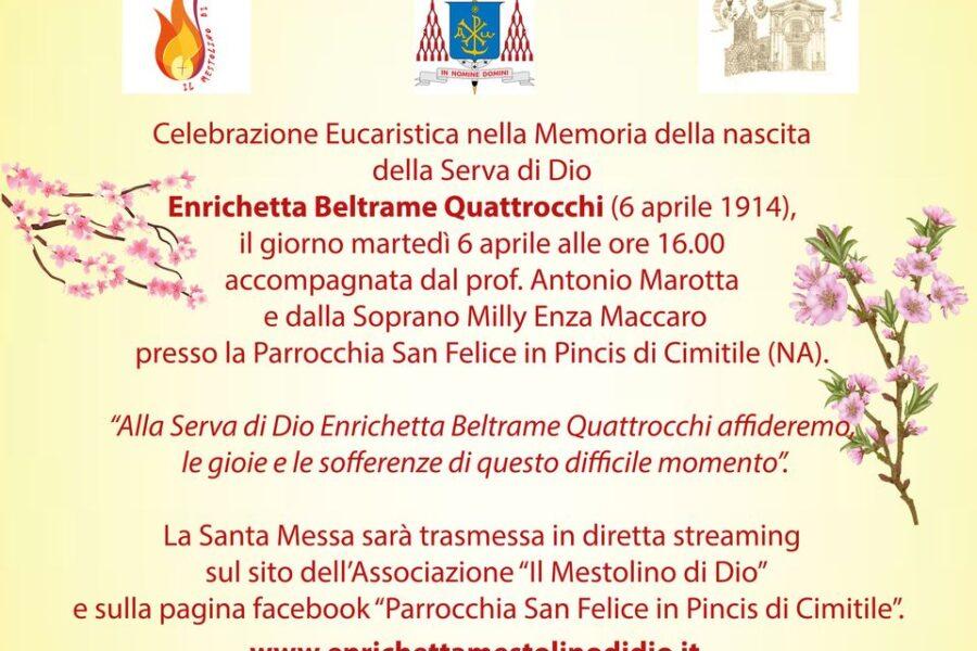 Live – Celebrazione eucaristica in Memoria della nascita di Enrichetta